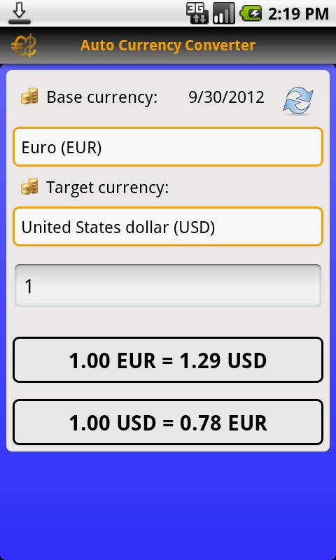 Auto Currency Converter- screenshot