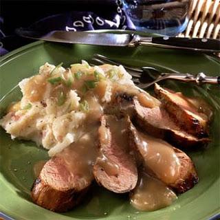 Honey-Bourbon Grilled Pork Tenderloin.