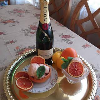 Champagne Three-Citrus Sorbet.