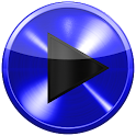 Poweramp skin BLUE METAL skin icon