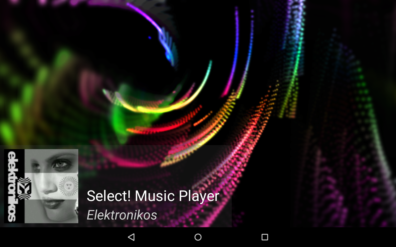 Select! Music Player Tablet- screenshot