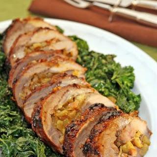Fennel-Stuffed Pork Loin with Miso-Marmalade Glaze.