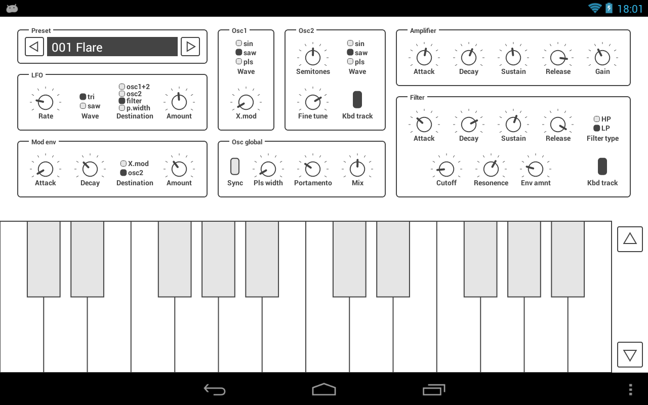 Common Analog Synthesizer - screenshot