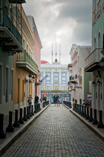 governors-mansion-Old-San-Juan - The New World's oldest governor's mansion is still in use. Some 150 consecutive governors have served over the past 300 years. It's at the west end of Calle Fortaleza in Old San Juan, Puerto Rico.