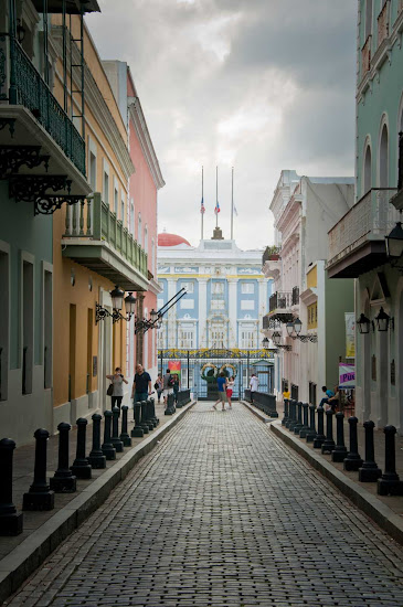 The New World's oldest governor's mansion is still in use. Some 150 consecutive governors have served over the past 300 years. It's at the west end of Calle Fortaleza in Old San Juan, Puerto Rico.