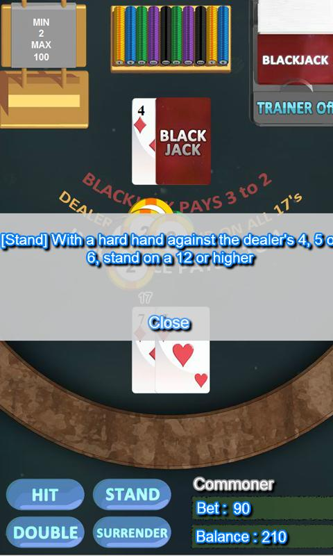 free blackjack trainer