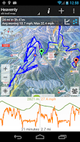 Screenshot of GPS on ski map