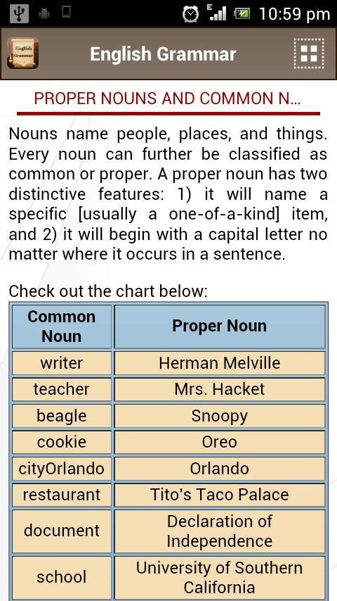 English Grammar Book- screenshot