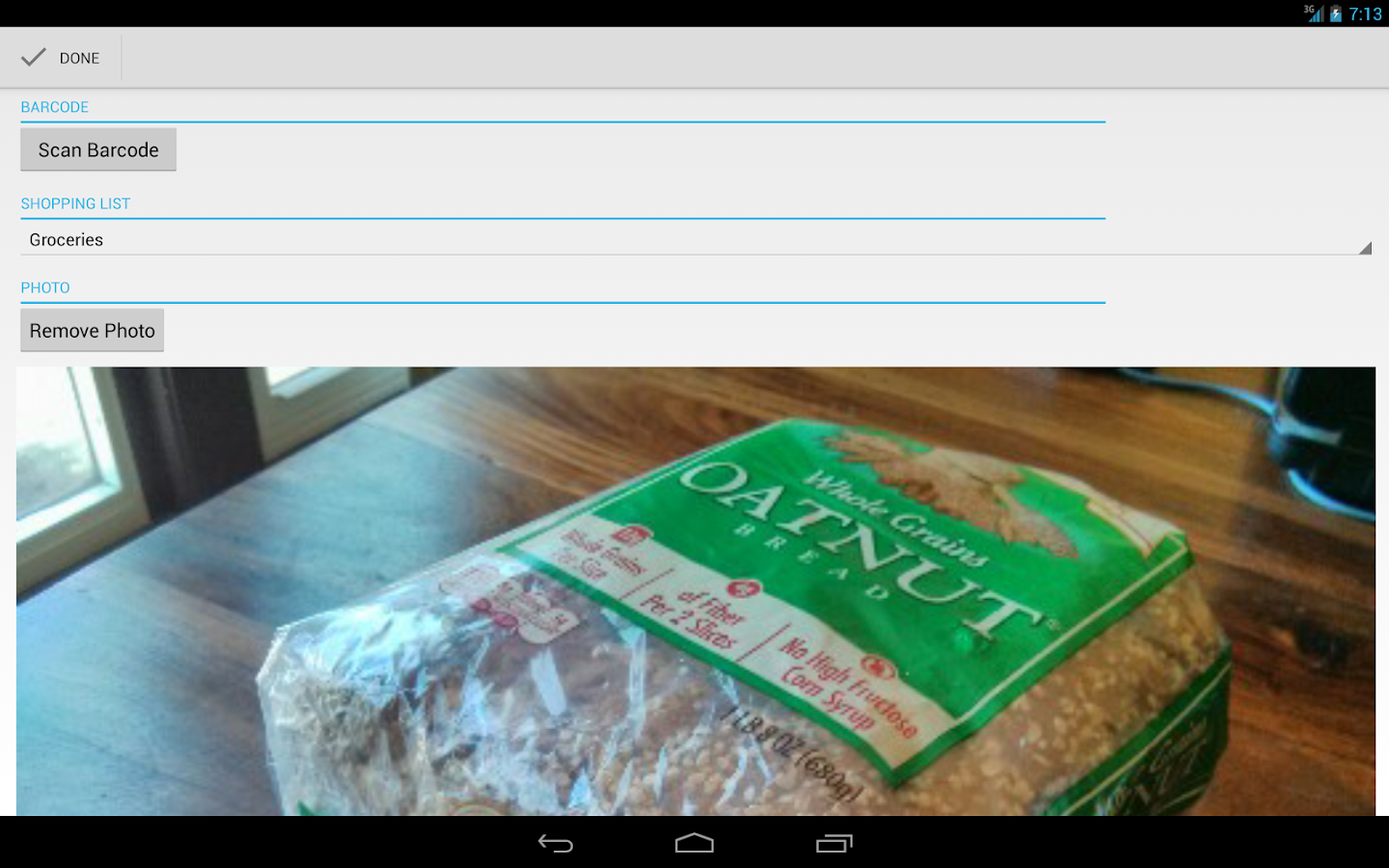 Our Groceries Shopping List- screenshot
