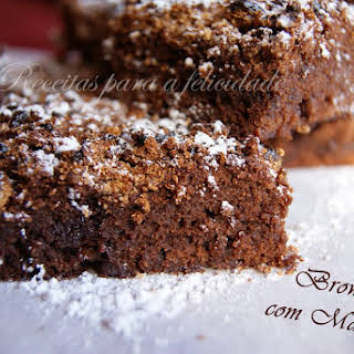 Malt Ball Brownies.