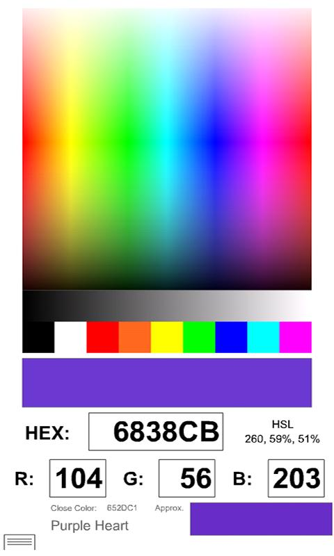 Rockin' Color Picker Lite- screenshot