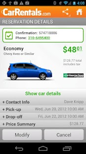 CarRentals - screenshot thumbnail
