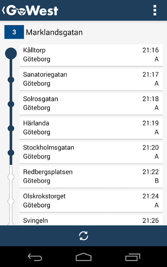 GoWest - Västtrafik - screenshot