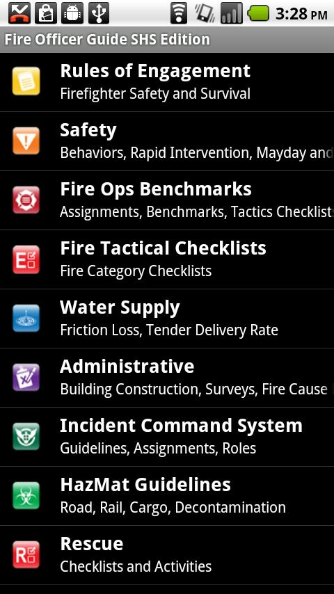 Fire Officer Field Guide SHS - screenshot