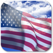 3D US Flag Live Wallpaper + icon