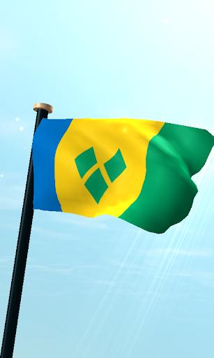 セントビンセントおよびグレナディーン諸島フラグ3D無料壁紙