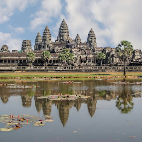 Angkor Wat, Cambodia by Barb Hauxwell - Buildings & Architecture Places of Worship ( temple, hindu, buddhist, arcitecture, khmer, angkor wat, cambodia, siem reap )
