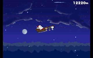 Screenshot of Flying Santa Cat