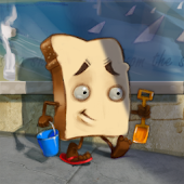 Slice of Bread Goes to Beach