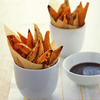 Sweet Potato Wedges with Sesame-soy Dipping Sauce.