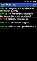 Screenshot of MobileOrg