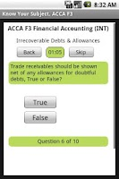 Screenshot of ACCA F3 Financial Accounting