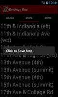 Screenshot of Buckeye Bus Tracker