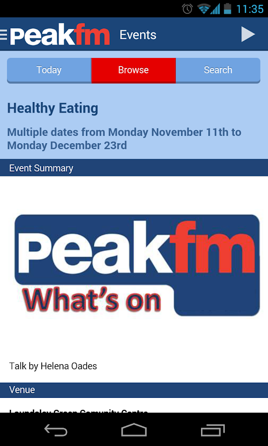 Peak FM Radio - screenshot