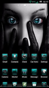 GO Launcher Torquoise Theme - screenshot thumbnail