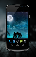 Screenshot of Dream Night Free LiveWallpaper