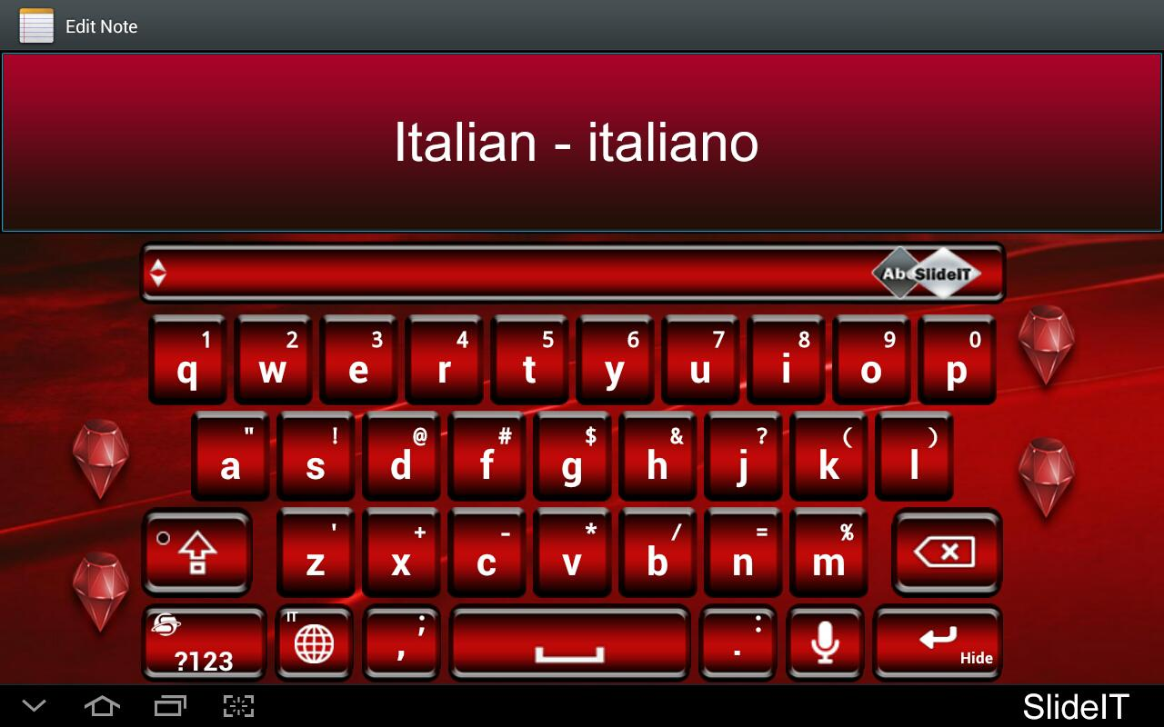 SlideIT Italian Pack - screenshot