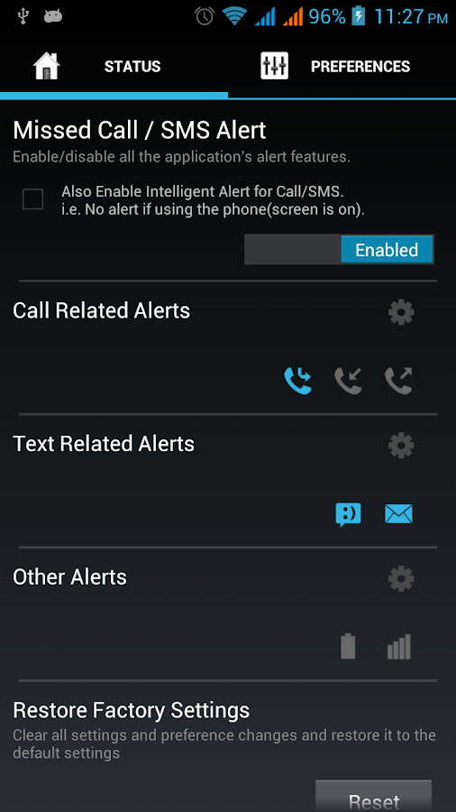 Alert.me Pro Call SMS Email - screenshot