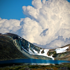 Lake Angeline by Greg Harcharik - Landscapes Waterscapes ( wyoming lale, mountains, angeline, bighorn,  )
