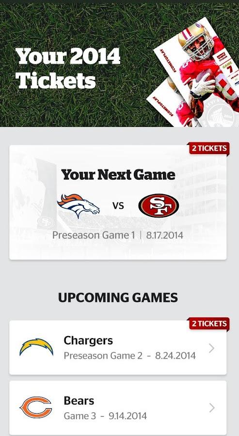 Levi's Stadium App - screenshot