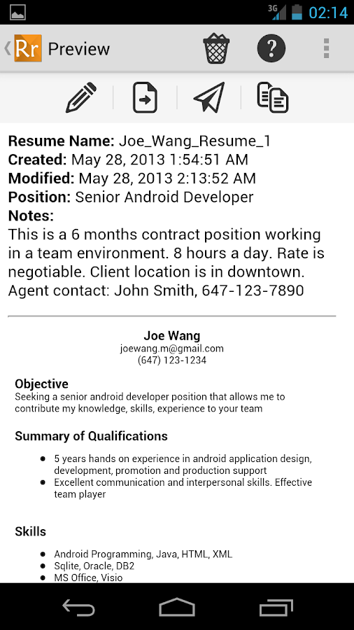 Resume Ready Lite - screenshot