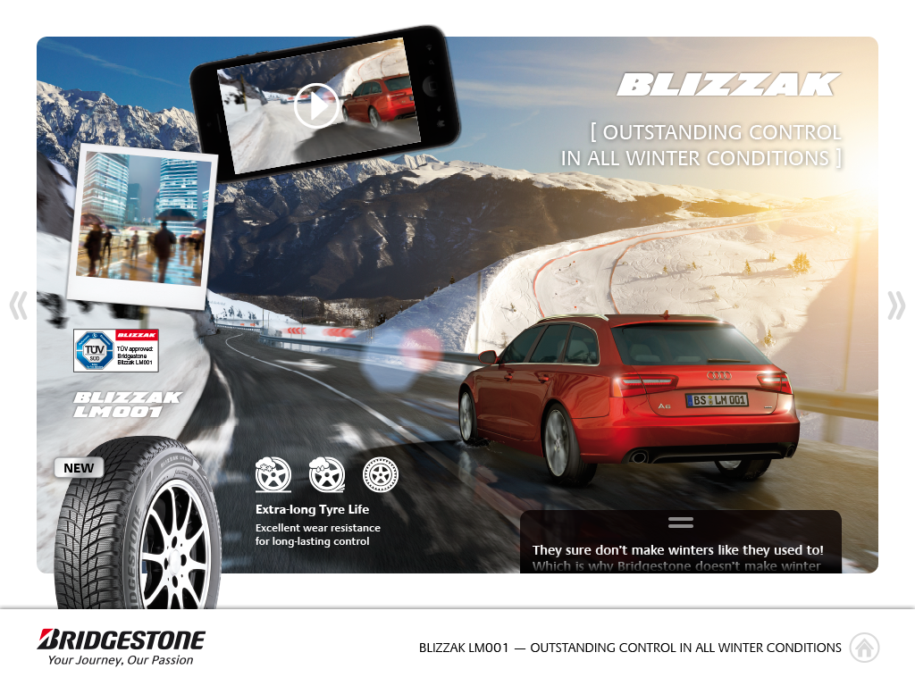 Bridgestone Europe eLibrary- screenshot