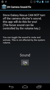 Galaxy Nexus Camera Sound Fix - screenshot thumbnail
