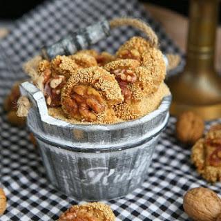 Amaranth Walnut Einkorn Cookies