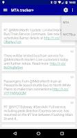Screenshot of MTA tracker+
