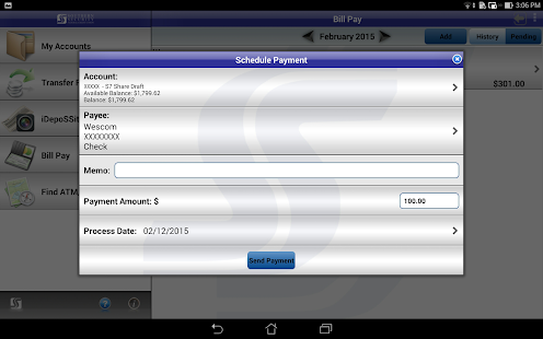 SSFCU Tablet Mobile Banking- screenshot thumbnail