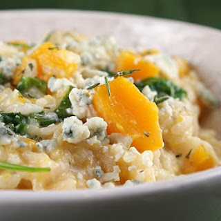 Butternut Squash, Rosemary and Blue Cheese Risotto Recipe