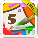 Kids Coloring and Math Free icon