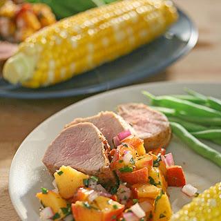 Grilled Pork Tenderloin with Fresh Peach Salsa