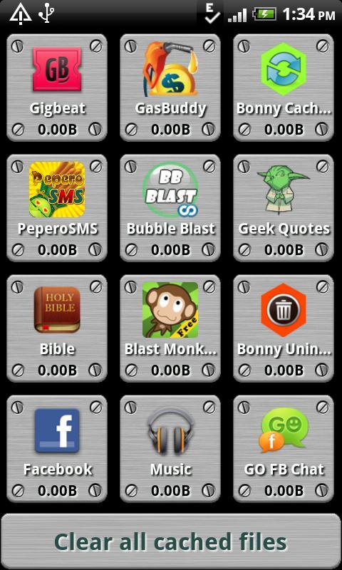 Bonny Cache Cleaner - screenshot