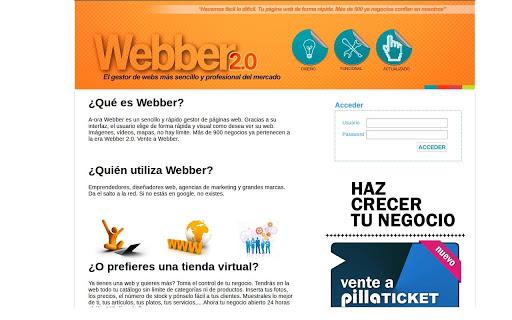 Webber 3.0 Tu Generador de Web