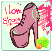 GO SMS I Love Shoes Theme