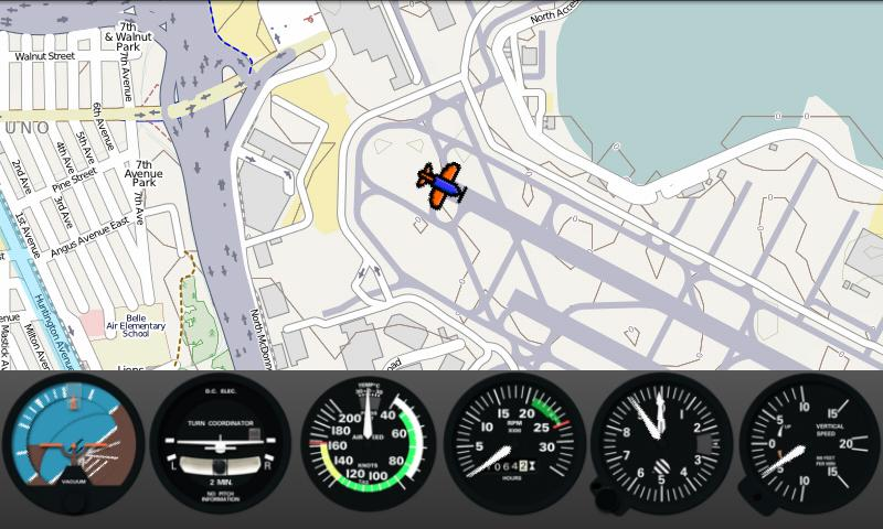 FlightGearMap- screenshot