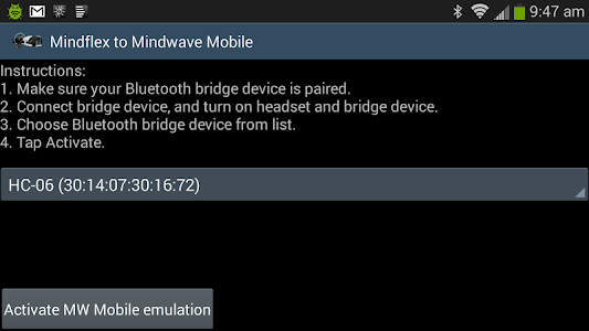 Mindflex to Mindwave Mobile screenshot 2