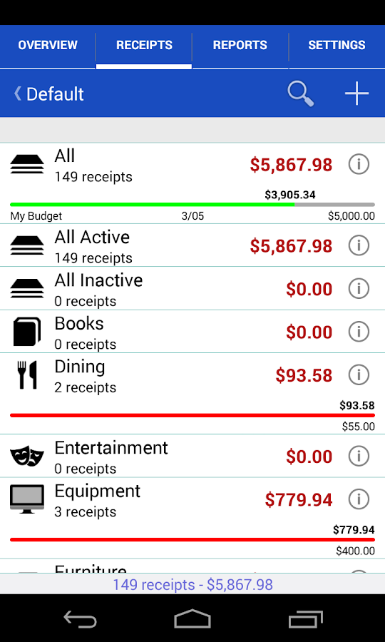 Receipts Pro - Expense Tracker- screenshot