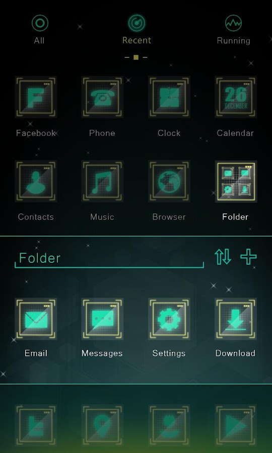 Dawn GO Launcher Theme - screenshot